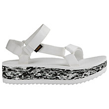 Buy Teva Flatform Marble Women's Sandals, White Online at johnlewis.com