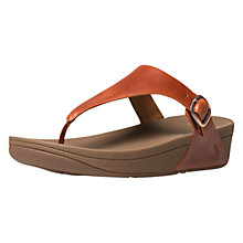 Buy FitFlop Skinny Leather Adjustable Flip Flops, Tan Online at johnlewis.com