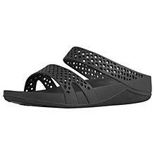 Buy FitFlop Ringer WellJelly Z-Slide Sandals, Black Online at johnlewis.com