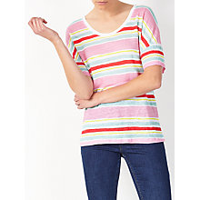 Buy Collection WEEKEND by John Lewis Stripe Linen T-Shirt, Multi Online at johnlewis.com