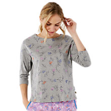 Buy White Stuff Fly Me To The Moon Printed Lounge Top, Grey Online at johnlewis.com