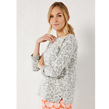 Buy White Stuff Tucked Up Sweat Lounge Top, Grey Marl Online at johnlewis.com