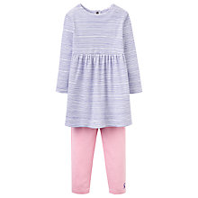Buy Baby Joule Christina Floral Dress and Striped Leggings Set, Blue/Pink Online at johnlewis.com
