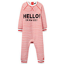 Buy Baby Joule Ernie Striped Sleepsuit, Red Online at johnlewis.com