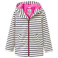Buy Baby Joule Raindance Striped Rubber Raincoat, Navy/White Online at johnlewis.com