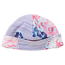 Buy Baby Joule Floral Reversible Bonnet Hat, White/Pink Online at johnlewis.com