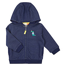 Buy John Lewis Baby Crocodile Hoodie, Blue Online at johnlewis.com