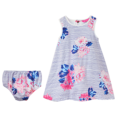 Product photo of Baby joule bunty floral dress and knickers set blue