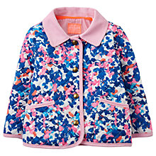 Buy Baby Joule Mabel Quilted Jacket, Blue/Pink Online at johnlewis.com