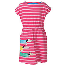 Buy Frugi Organic Girls' Bryher Boat Neck Dress, Raspberry Online at johnlewis.com