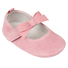 Buy John Lewis Baby Mary Jane Bow Shoes, Pink Online at johnlewis.com