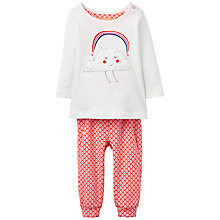 Buy Baby Joule Poppy Cloud Appliqué Top and Leggings Set, White/Pink Online at johnlewis.com