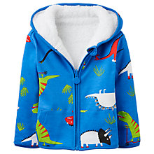 Buy Baby Joule James Dinosaur Reversible Hoodie, Blue/Multi Online at johnlewis.com