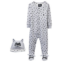 Buy Baby Joule Pride Raccoon Sleepsuit and Hat Set, Grey Online at johnlewis.com