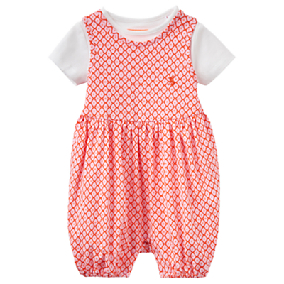 Baby Joule Dolly Jersey Romper and T-Shirt Set, Pink/White