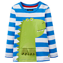 Buy Baby Joule Bounce Striped Crocodile T-Shirt, Blue/White Online at johnlewis.com