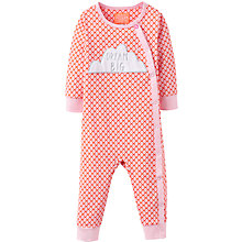 Buy Baby Joule Dream Big Cloud Romper Playsuit, Red Online at johnlewis.com