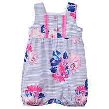 Buy Baby Joule Uma Striped Floral Romper Playsuit, Blue/Pink Online at johnlewis.com