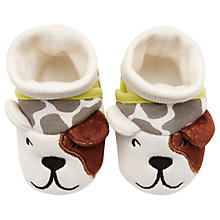 Buy Baby Joule Nipper Dog Slippers, Cream Online at johnlewis.com