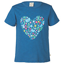 Buy Frugi Organic Girls' Praa Print T-Shirt, Blue Online at johnlewis.com