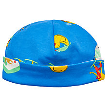 Buy Baby Joule Bonnet Reversible Sea Fun Print Hat, Blue/Multi Online at johnlewis.com
