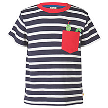 Buy Frugi Organic Boys' Pocket Creature T-Shirt, Navy Online at johnlewis.com
