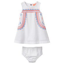 Buy Baby Joule Bunty Embroidered Dress and Knickers Set, White/Multi Online at johnlewis.com