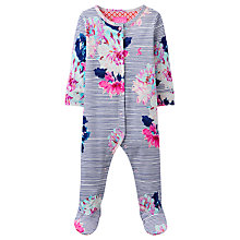 Buy Baby Joule Razmataz Floral Stripe Sleepsuit, Multi Online at johnlewis.com