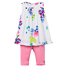 Buy Baby Joule Delilah Tunic Top and Legging Set, Pink/Cream Online at johnlewis.com