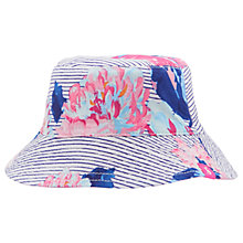 Buy Baby Joule Sunseeker Floral Reversible Sun Hat, Blue/Multi Online at johnlewis.com