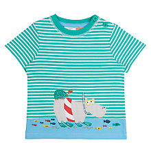 Buy John Lewis Baby Hippo Snorkel T-Shirt, Blue Online at johnlewis.com