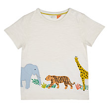 Buy John Lewis Baby Cuba Animal T-Shirt, White Online at johnlewis.com