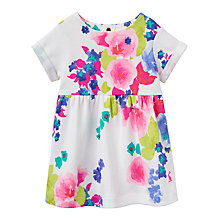 Buy Baby Joule Seren Bloom Dress, White/Pink Online at johnlewis.com