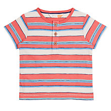 Buy John Lewis Baby GOTS Cotton Cuba Stripe T-Shirt, Multi/Red Online at johnlewis.com