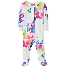 Buy Baby Joule Razmataz Bloom Sleepsuit, Blue/Pink Online at johnlewis.com