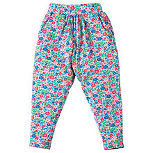 Buy Frugi Organic Girls' Ditsy Garden Gathered Trousers, Multi Online at johnlewis.com