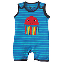 Buy Frugi Organic Baby Lundy Dungaree, Blue Online at johnlewis.com
