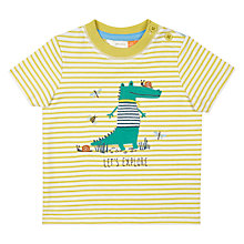 Buy John Lewis Baby Crocodile Explore T-Shirt, Green Online at johnlewis.com