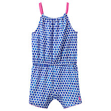 Buy Baby Joule Delphi Spot Print Jersey Playsuit, Blue/Multi Online at johnlewis.com