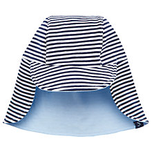Buy Baby Joule Sunny Reversible Striped Jersey Hat, Blue Online at johnlewis.com