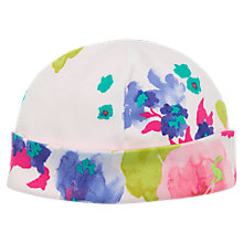 Buy Baby Joule Bonnet Reversible Bloom Print Hat, Cream/Multi Online at johnlewis.com