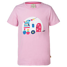Buy Frugi Organic Girls' Gwenver Applique T-Shirt, Blossom Pink Online at johnlewis.com
