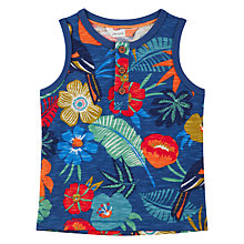 Buy John Lewis Baby GOTS Cotton Cuba Tropical Vest Top, Navy Online at johnlewis.com