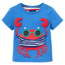 Buy Baby Joule Clawsome Shark T-Shirt, Grey/Blue Online at johnlewis.com