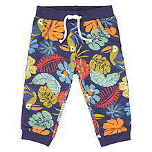 Buy John Lewis Baby GOTS Cotton Cuba Tropical Trousers, Navy Online at johnlewis.com