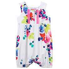 Buy Baby Joule Uma Bloom Romper, White/Pink Online at johnlewis.com