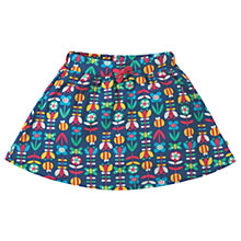Buy Frugi Organic Girls' Spring Floral Skirt, Navy Online at johnlewis.com