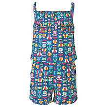 Buy Frugi Organic Girls' Perranuthnoe Playsuit, Navy Online at johnlewis.com