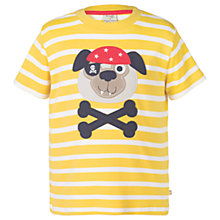 Buy Frugi Organic Children's Ollie Dog T-Shirt, Yellow Online at johnlewis.com