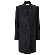 Buy John Lewis Textured Coat, Black/Green Online at johnlewis.com
